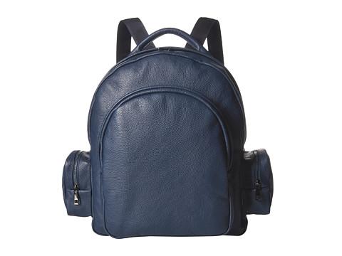 Genti Barbati Calvin Klein Leather Backpack Navy