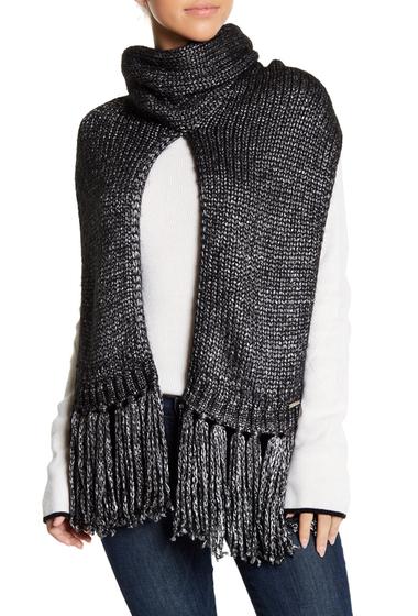 Accesorii Femei MICHAEL Michael Kors Marled Knit Turtleneck Fringe Scarf BLACK