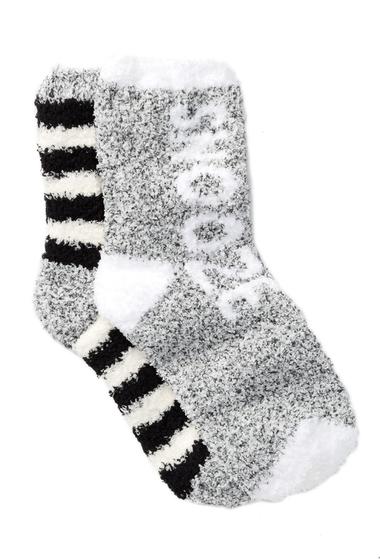 Accesorii Femei Free Press Patterned Fuzzy Socks - Pack of 2 BLACK HEATHER SNOOZE
