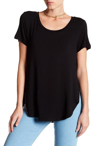 Imbracaminte Femei Halogen Short Sleeve Shirttail Tee BLACK