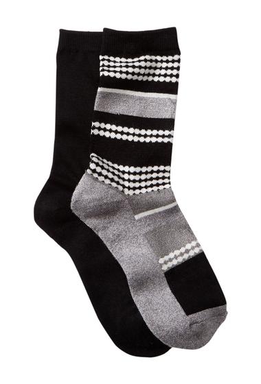 Accesorii Femei shimera Pillow Sole Crew Socks - Pack of 2 DOT STRIPE-BLACK