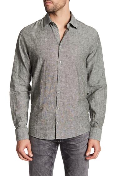 Imbracaminte Barbati Lindbergh Woven Long Sleeve Regular Fit Shirt GREEN