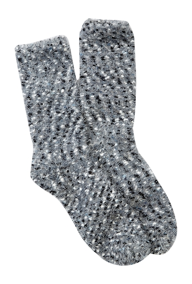 Accesorii Femei Free Press Fuzzy Nep Crew Socks BLACK