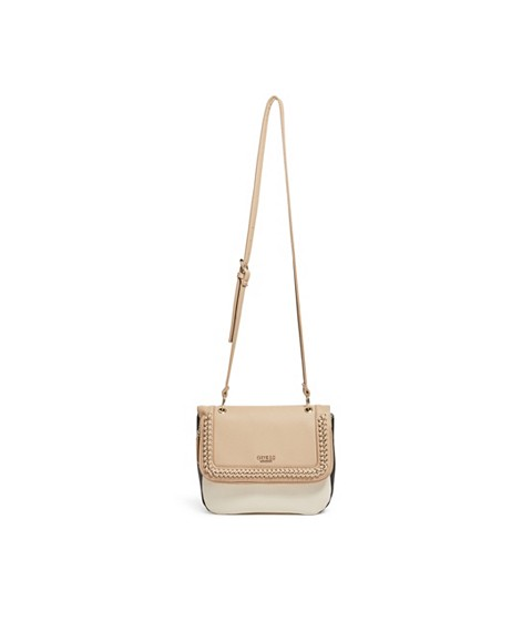 Genti Femei GUESS Sharlet Faux-Leather Crossbody natural multi