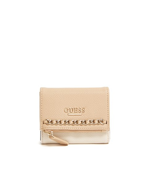 Accesorii Femei GUESS Sharlet Small Wallet natural multi