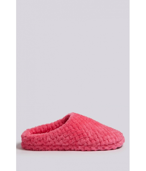 Incaltaminte Femei Forever21 Quilted Faux Fur Slippers PINK