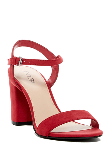 Incaltaminte Femei Abound Steph Faux Suede Block Heel Sandal RED FAUX SUEDE