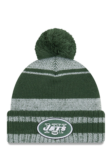 Accesorii Barbati New Era Cap NFL New York Jets Glacial Pom Knit Beanie DARK GREEN