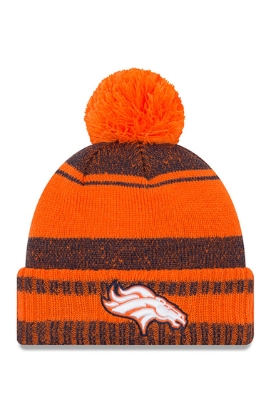 Accesorii Barbati New Era Cap NFL Denver Broncos Glacial Pom Knit Beanie ORANGE