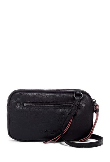 Genti Femei Liebeskind Berlin Janina Sporty Leather Crossbody Bag OIL BLACK