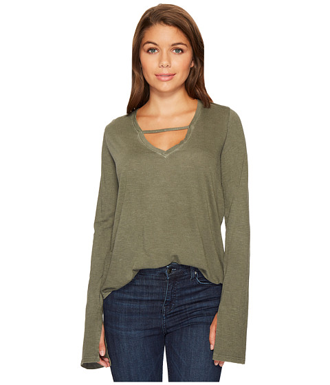 Imbracaminte Femei Joes Jeans V-Neck Long Sleeve Top Forest