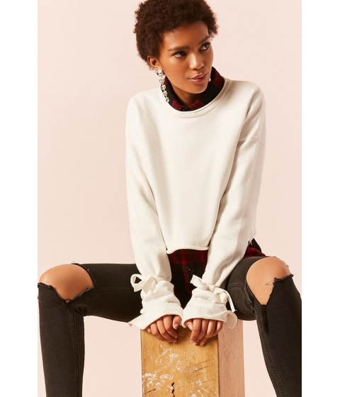 Imbracaminte Femei Forever21 Boxy Split-Cuff Sweater CREAM