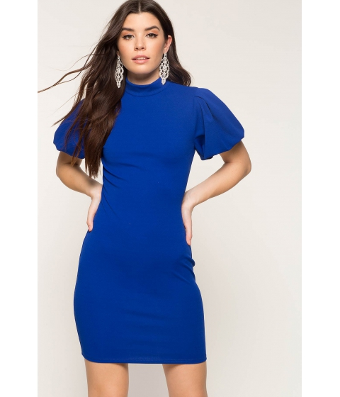 Imbracaminte Femei CheapChic Poppy Puff Sleeve Bodycon Dress Neon Royal