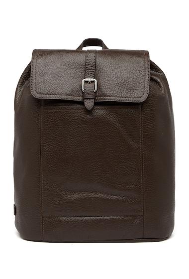 Genti Barbati Cole Haan Leather Flap Backpack JAVA
