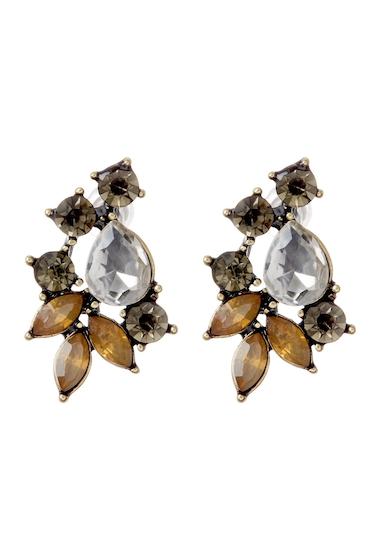 Bijuterii Femei Stella Ruby Antique Gold Crystal Earrings ANT GOLD - BLACK DMND