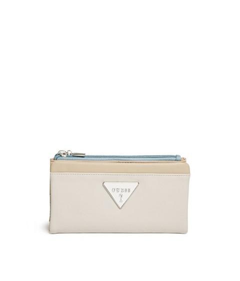 Accesorii Femei GUESS Adlington Color-Block Foldover Wallet sand multi