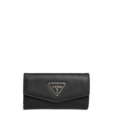 Accesorii Femei GUESS Desire Logo-Embossed Slim Wallet black