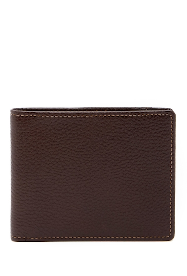 Accesorii Barbati Boconi Tyler Tumbled Leather Billfold Wallet DARK BROWN