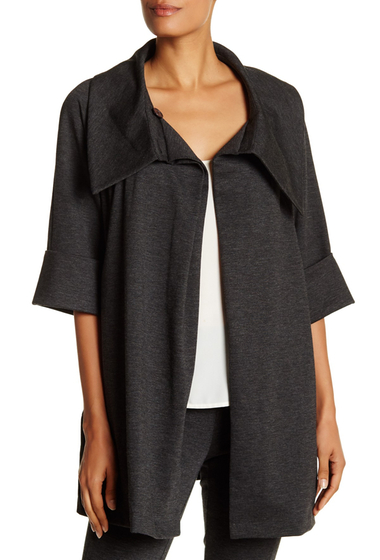 Imbracaminte Femei Insight Apparel Shawl Collar Draped Jacket GREY