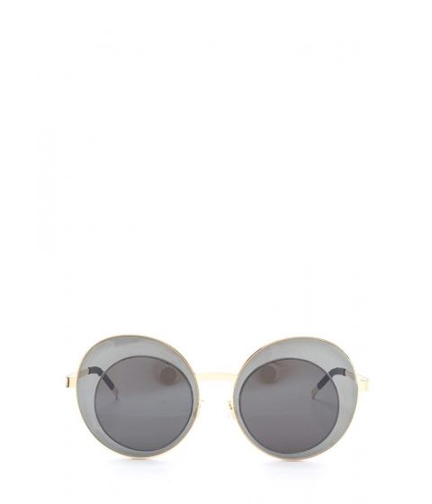 Accesorii Femei CheapChic Futuristic Touch Round Sunglasses Blackgold