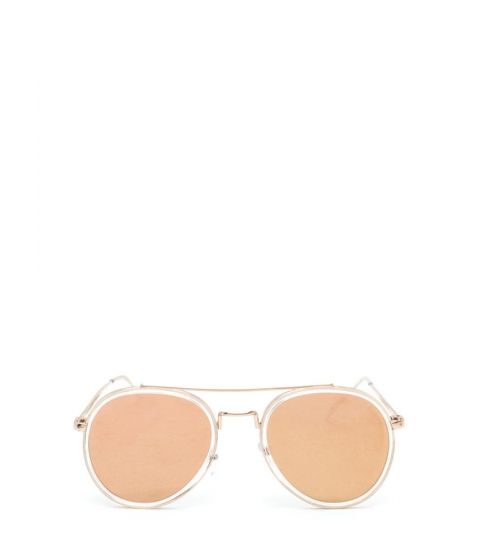 Accesorii Femei CheapChic Keep Your Cool Mirrored Sunglasses Rosegold