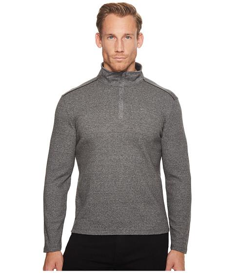 Imbracaminte Barbati Calvin Klein Jacquard Mock Neck 14 Zip Sweater Marled Black