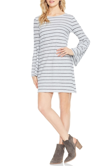 Imbracaminte Femei Two by Vince Camuto Nova Stripe Bell Sleeve Dress GREY HTHR