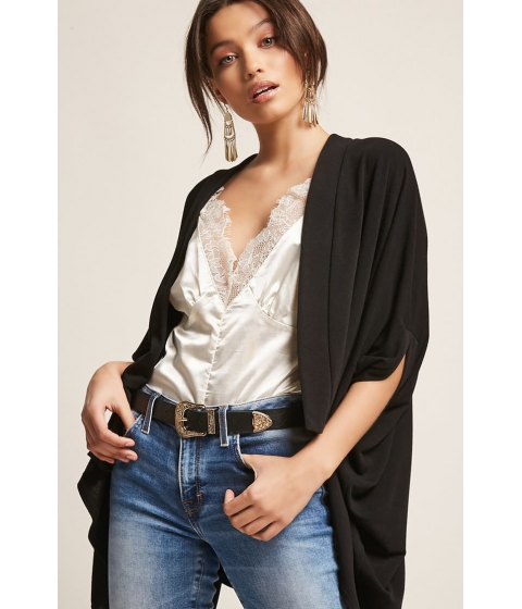 Imbracaminte Femei Forever21 Drape-Front Cardigan BLACK
