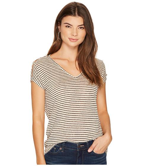 Imbracaminte Femei Lucky Brand Linen Stripe Tee Natural Stripe