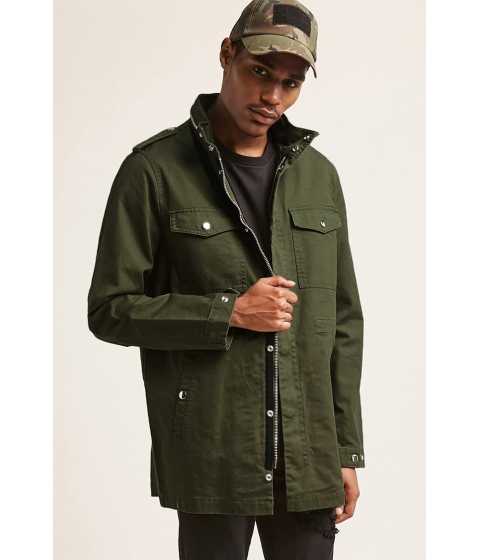 Imbracaminte Barbati Forever21 Pull-Ring Utility Jacket OLIVE