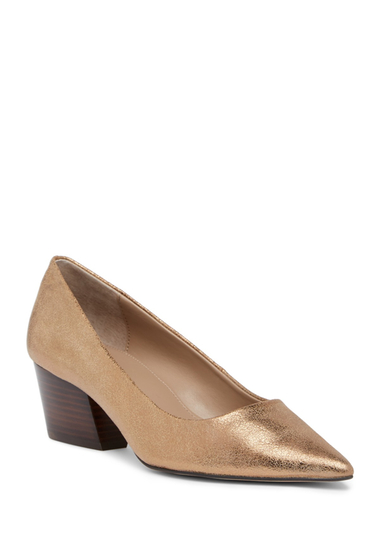 Incaltaminte Femei Donald Pliner Anni Pointed Toe Metallic Leather Pump LTBRONZE