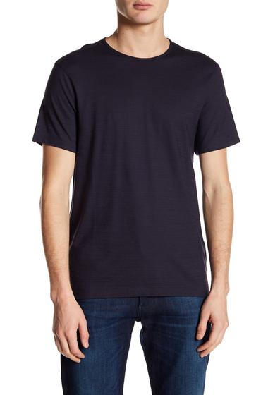 Imbracaminte Barbati John Varvatos Collection Short Sleeve Knitted Crew Neck Tee ANTIQUE PURP