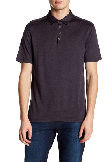Imbracaminte Barbati John Varvatos Collection Hampton Fine Knitted Polo DRIED BERRY
