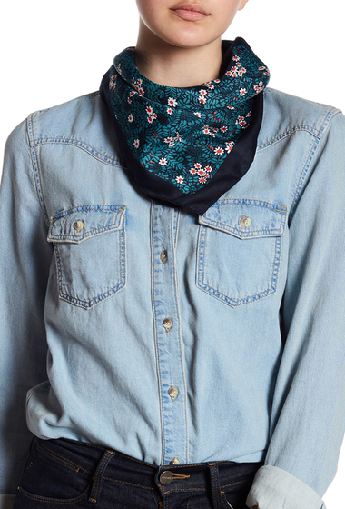 Accesorii Femei Joe Fresh Soft Printed Square Scarf JF MIDNIGHT BLUE