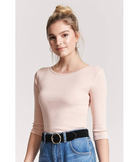 Imbracaminte Femei Forever21 Ribbed Knit Top PEACH BUD