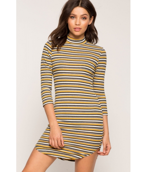 Imbracaminte Femei CheapChic Stripe Right Bodycon Dress Yellow Pattern