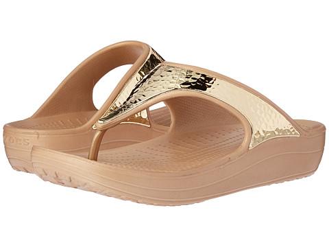 Incaltaminte Femei Crocs Sloane Embellished Flip Gold Metallic