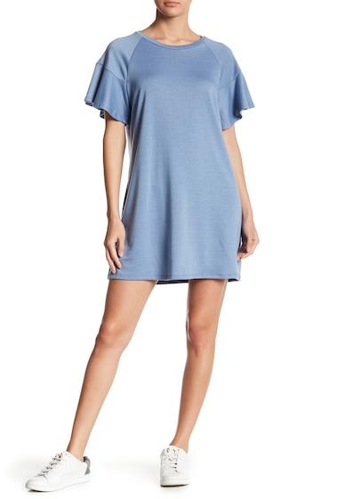Imbracaminte Femei LOVEAdy Ruffle Sleeve Sweater Dress CHAMBRAY