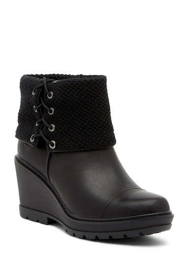 Incaltaminte Femei Timberland Kellis Mid Foldover Wedge Boot JET BLACK