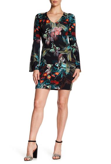 Imbracaminte Femei Karen Kane Floral V-Neck Bell Sleeve Dress PRT
