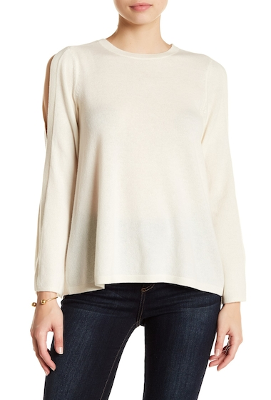 Imbracaminte Femei Joie Amalyn Split Shoulder Wool Blend Sweater PORCELAIN