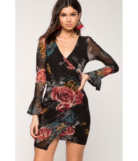 Imbracaminte Femei CheapChic Nora Floral Wrap Dress Black Print