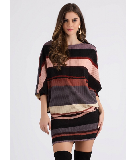 Imbracaminte Femei CheapChic Easy Street Striped Dolman Sweater Dress Multi