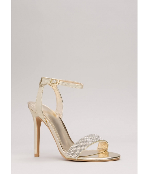 Incaltaminte Femei CheapChic Sparkles Will Fly Strappy Jeweled Heels Gold
