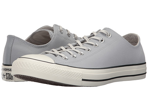 Incaltaminte Femei Converse Chuck Taylor All Star Coated Leather OX Wolf GreyBlackEgret