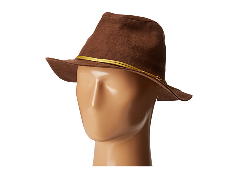 Accesorii Femei San Diego Hat Company CTH8072 Faux Suede Fedora Camel