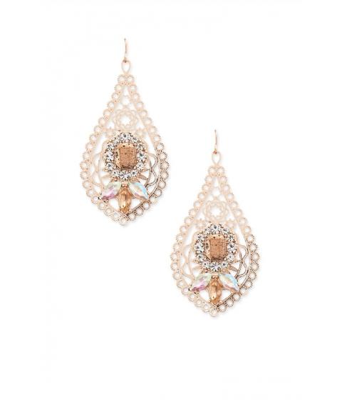 Bijuterii Femei Forever21 Faux Stone Filigree Drop Earrings ROSE GOLD