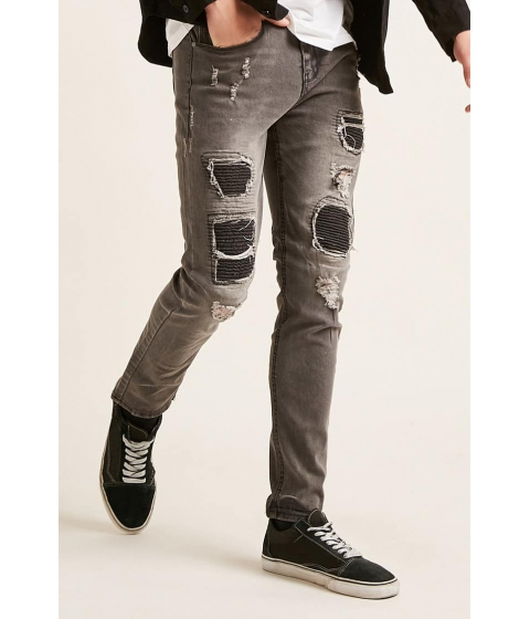Imbracaminte Barbati Forever21 Waimea Distressed Jeans GREY
