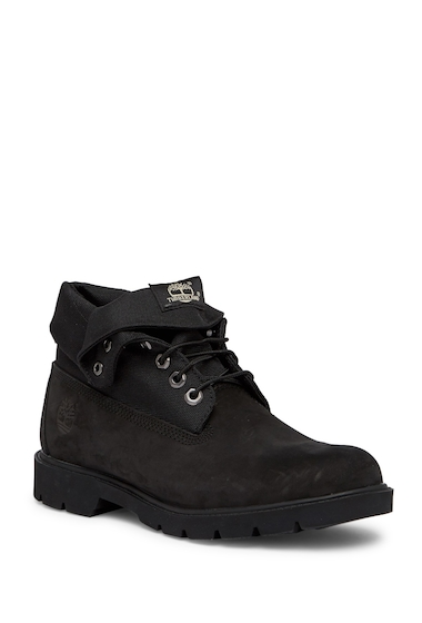 Incaltaminte Barbati Timberland Basic Single Roll Top Boot - Wide Width Available BLACK
