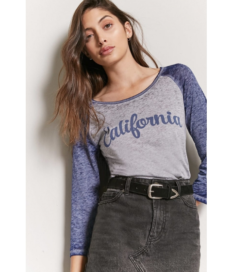 Imbracaminte Femei Forever21 California Graphic Raglan Tee HEATHER GREYBLUE